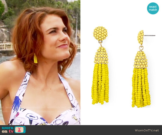 Baublebar Mini Piñata Tassel Drop Earrings worn by Sally Spectra on The Bold & the Beautiful