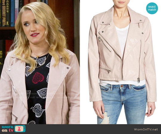 Blank NYC Faux Leather Jacket in No Blushing worn by Gabi Diamond on Young & Hungry