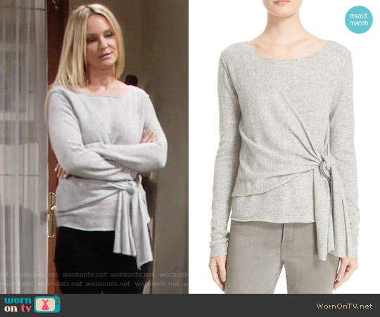 Brochu Walker Seine Cashmere Sweater worn by Sharon Case on The Young & the Restless