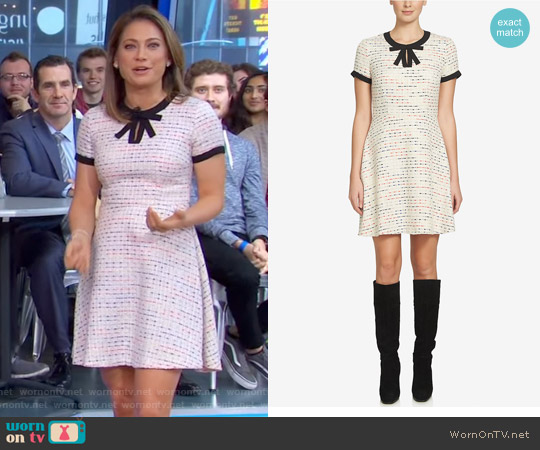 Chloe Tweed A-Line Dress by Cece worn by Ginger Zee on Good Morning America
