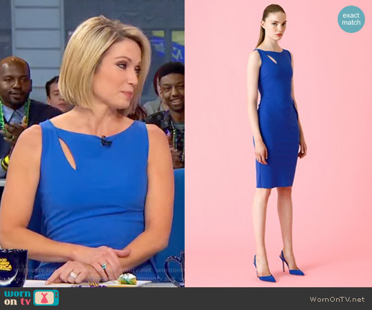 Nabila Dress by La Petite Robe di Chiara Boni worn by Amy Robach on Good Morning America