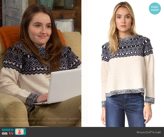 Clu Too Fair Isle Pullover worn by Eve Baxter (Kaitlyn Dever) on Last Man Standing