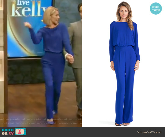 Diane von Furstenberg Cynthia Jumpsuit worn by Kelly Ripa  on Live with Kelly & Ryan