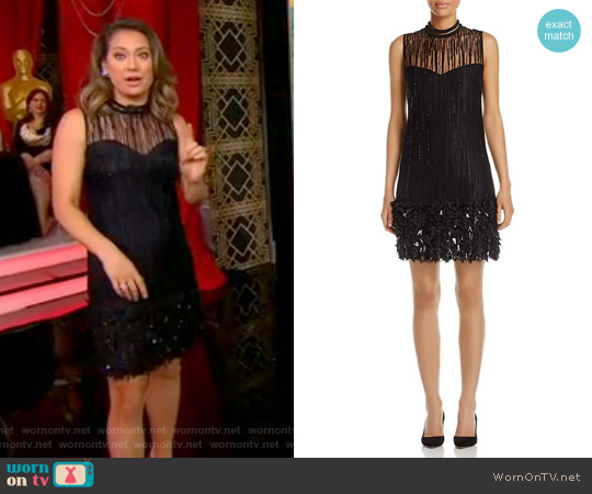 Mirage Feathered Dress by Elie Tahari worn by Ginger Zee  on Good Morning America