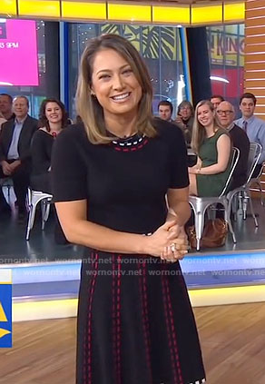 Ginger's black knit dress on Good Morning America