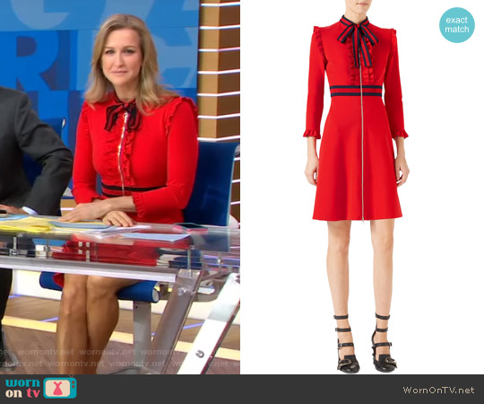 Viscose Jersey Dress by Gucci worn by Lara Spencer on Good Morning America