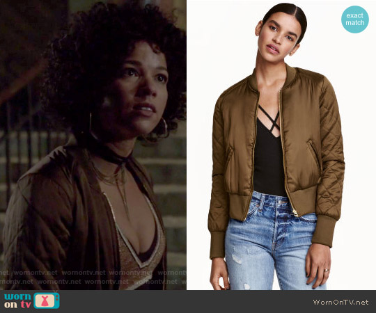 Bomber Jacket by H&M worn by Maia Roberts (Alisha Wainwright ) on Shadowhunters