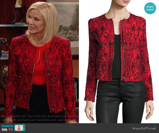 IRO Inoui Jacket worn by Brooke Logan (Katherine Kelly Lang) on The Bold & the Beautiful