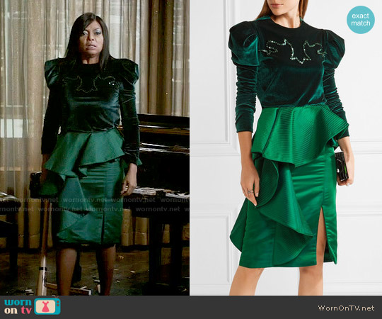 Johanna Ortiz Hamlet Top and Esmerelda Skirt worn by Cookie Lyon (Taraji P. Henson) on Empire