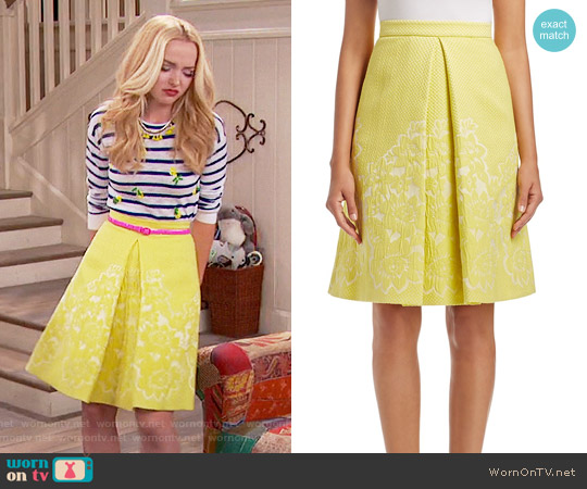 Karen Millen Jacquard Inverted Pleat Skirt worn by Liv Rooney on Liv & Maddie