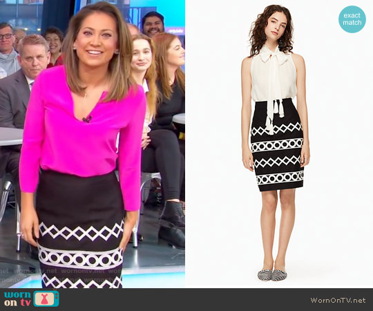 Amellia Skirt by Kate Spade worn by Ginger Zee on Good Morning America