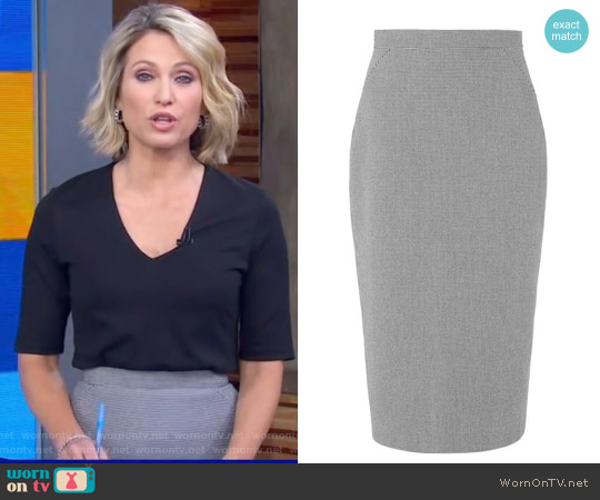 Gaia Skirt by L.K. Bennett worn by Amy Robach on Good Morning America