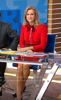 Lara's Red bow dress on Good Morning America