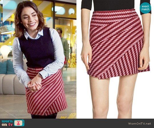 Maje Janeiro Tweed Skirt worn by Vanessa Hudgens on Powerless