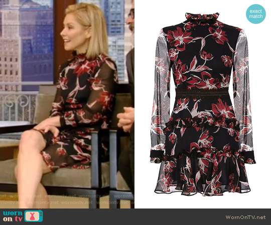 Floral Print Dress by Nicholas worn by Kelly Ripa  on Live with Kelly & Ryan