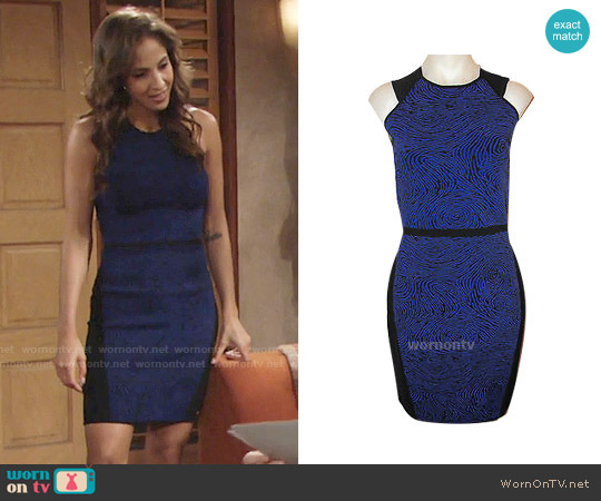 Opening Ceremony Fingerprint Dress worn by Christel Khalil on The Young & the Restless