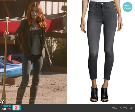 Capli Black Rock Jeans by Rag & Bone worn by Clary Fray on Shadowhunters