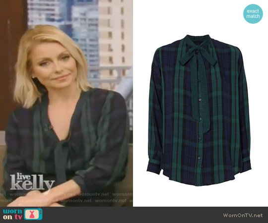 Corinne Plaid Shirt by Rails worn by Kelly Ripa  on Live with Kelly & Ryan