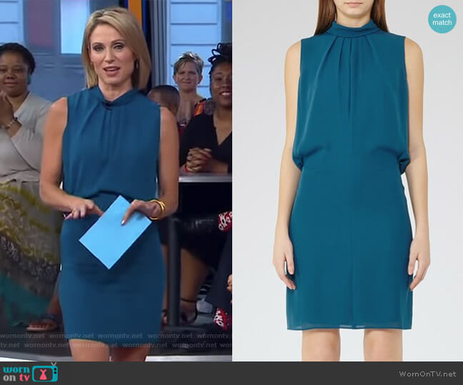 Leonie Dress by Reiss worn by Amy Robach on Good Morning America