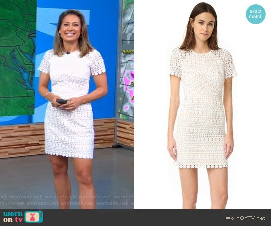 Geo Floral Lace Dress by Shoshanna worn by Ginger Zee on Good Morning America