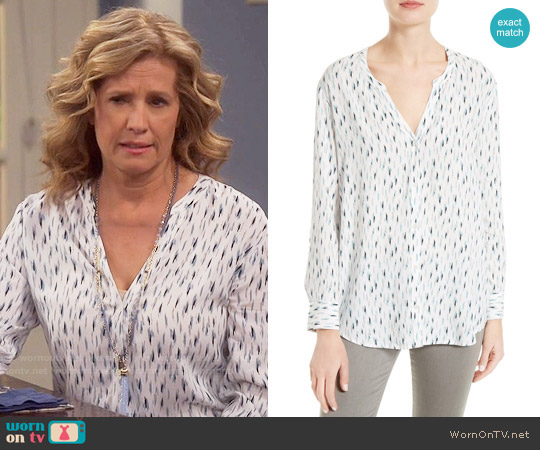 Soft Joie Dane Scribble Print Blouse worn by Nancy Travis on Last Man Standing