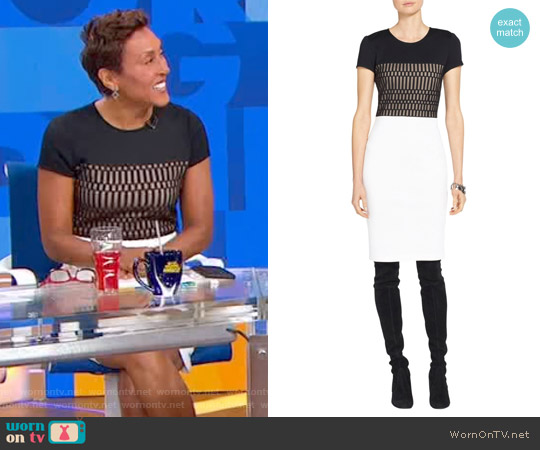Milano Knit Color Block Dress by St. John worn by Robin Roberts on Good Morning America
