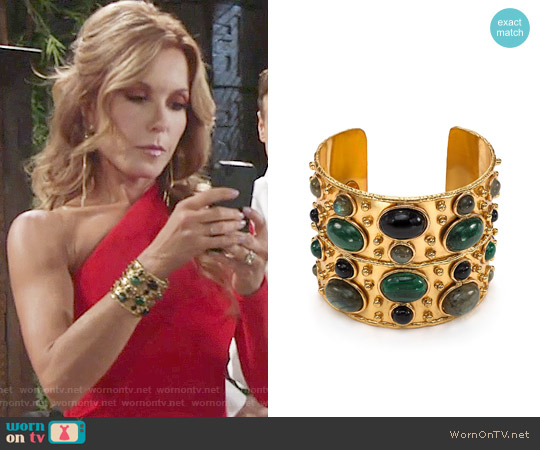 Sylvia Toledano Byzance Cuff worn by Lauren Fenmore on The Young & the Restless