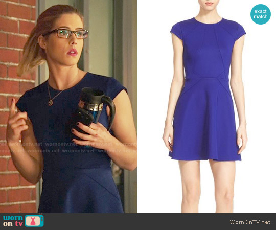 Ted Baker Eebrr Dress worn by Emily Bett Rickards on Arrow