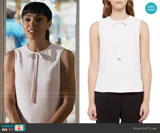 Ted Baker Natalle Bow-Detail Top worn by Tamara Taylor on Bones