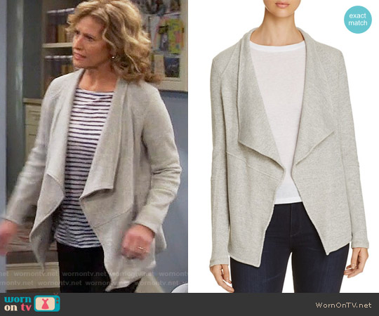 Three Dots Thermal Knit Jacket worn by Vanessa Baxter on Last Man Standing