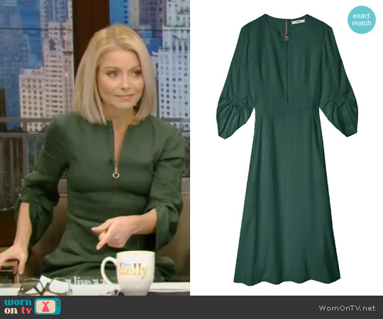 Marta Linen Dress by Tibi worn by Kelly Ripa (Kelly Ripa) on Live with Kelly & Ryan