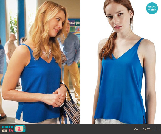 Topshop Double Strap V-Back Camisole worn by Yael Grobglas on Jane the Virgin