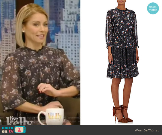 Skye Silk Georgette Dress by Ulla Johnson worn by Kelly Ripa (Kelly Ripa) on Live with Kelly & Ryan