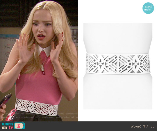 Vince Camuto Perforated Belt worn by Dove Cameron on Liv & Maddie