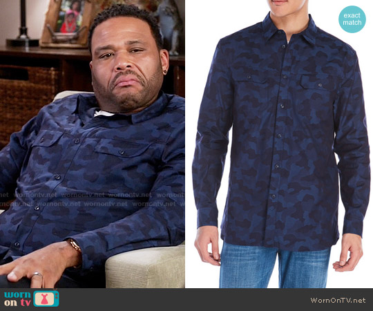 William Rast Baker Camouflage Shirt worn by Anthony Anderson on Blackish