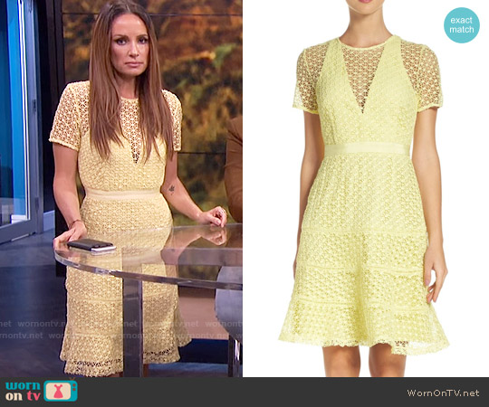 Adelyn Rae Illusion Fit & Flare Dress worn by Catt Sadler on E! News