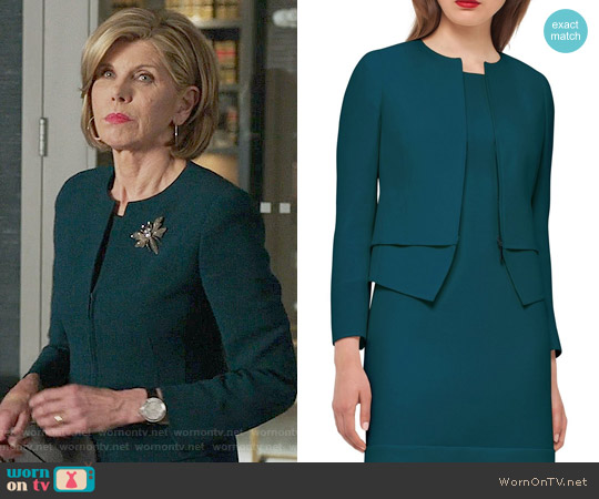 Akris Layered Hem Double Face Wool Jacket worn by Christine Baranski on The Good Fight