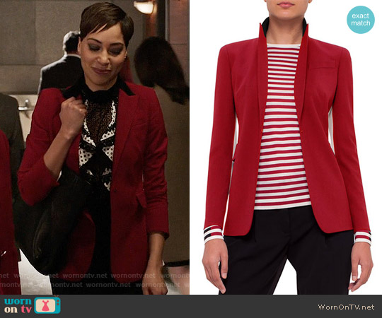 Akris Punto Single-Breasted Wool-Blend Jacket worn by Lucca Quinn on The Good Fight
