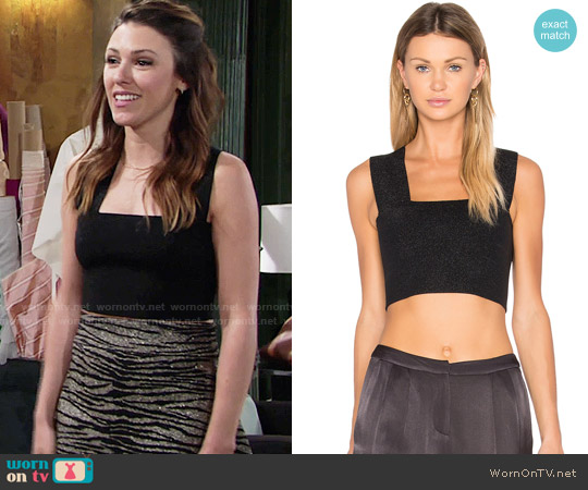 ALC Ali Top worn by Chloe Mitchell (Elizabeth Hendrickson) on The Young & the Restless
