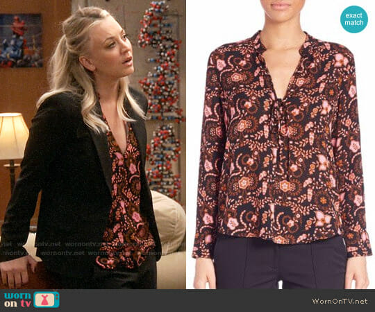 ALC Danielle Blouse worn by Kaley Cuoco on The Big Bang Theory
