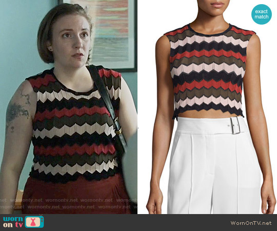 ALC Leo Top worn by Hannah Horvath (Lena Dunham) on Girls