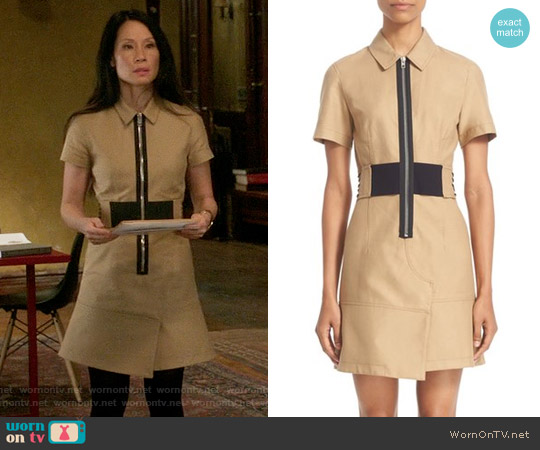 Alexander Wang Cotton Safari Dress worn by Joan Watson (Lucy Liu) on Elementary