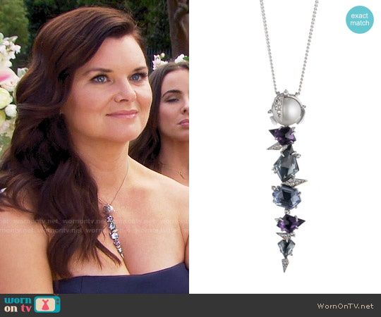 Alexis Bittar Mosaic Lace Pendant worn by Heather Tom on The Bold & the Beautiful