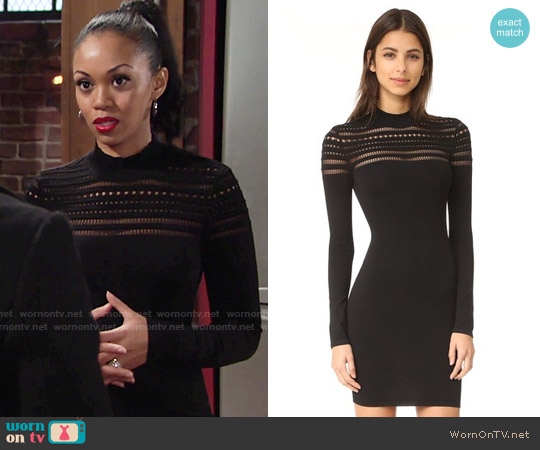 Ali & Jay Yoke Mini Dress worn by Hilary Curtis (Mishael Morgan) on The Young & the Restless