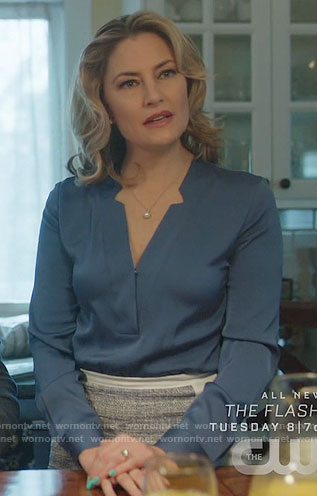 Alice's blue v-neck blouse on Riverdale