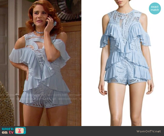 Alice McCall You're Young So Have Fun Romper worn by Courtney Hope on The Bold & the Beautiful