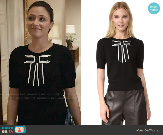 Alice + Olivia Danika Sweater worn by Emily Rhodes (Italia Ricci) on Designated Survivor