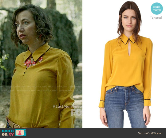 Alice + Olivia Edith Top worn by Kristen Schaal on Last Man On Earth