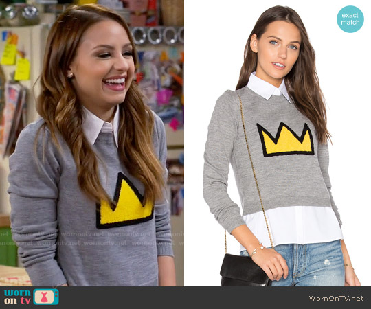 Alice + Olivia Nikia Crown Sweater worn by Aimee Carrero on Young & Hungry