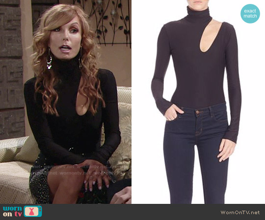 Alix Houston Cutout Bodysuit worn by Tracey Bregman on The Young & the Restless